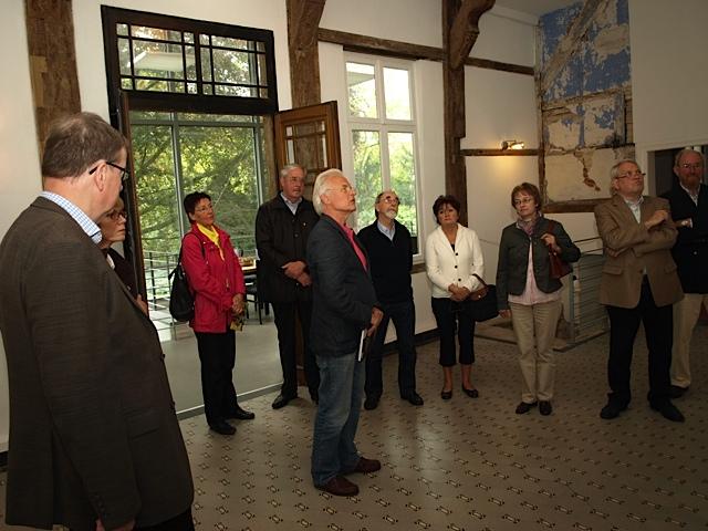 Die 55plus-Tour des Pressevereins führte am 14. September nach Borghorst ins neue Museum für den Bauhaus-Schüler Heinrich Neuy (Foto: Werner Hinse)